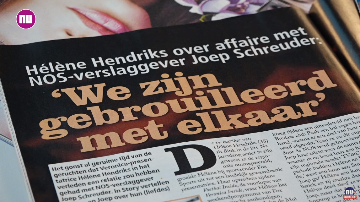 Helene Hendriks Had Geheime Relatie Met Joep Schreuder Fcvideo Nl